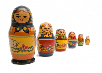 Scalable apps depicted by Russian Dolls